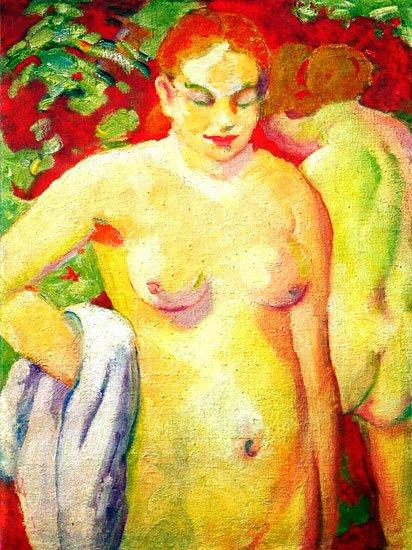 Standing Women canvas art print by Franz Marc