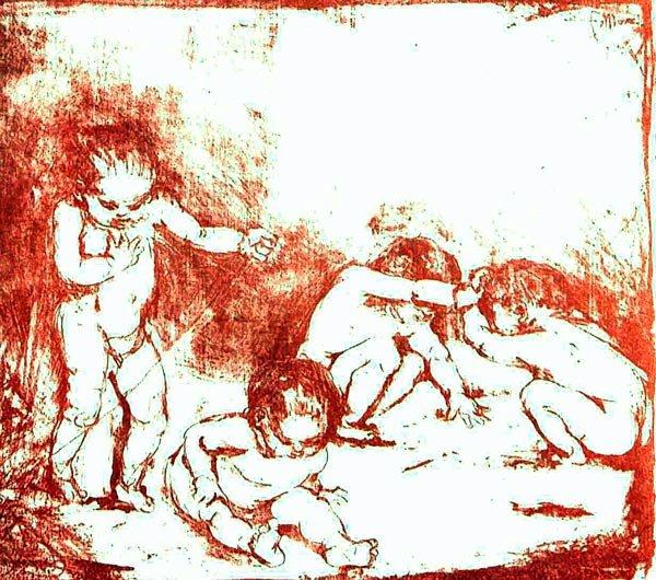 Playing Children canvas art print by Franz Marc