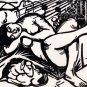 Sleeping Herdeswoman woman canvas art print by Franz Marc