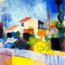 The Bright House cityscape canvas art print by Franz Marc