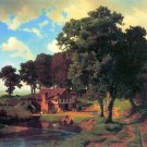 A Rustic Mill American West landscape canvas art print by Albert Bierstadt