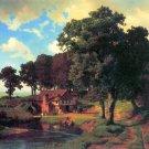 A Rustic Mill American West landscape canvas art print by Albert Bierstadt