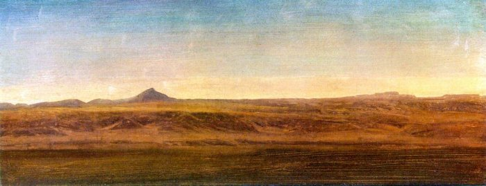 At the Level American West landscape canvas art print by Albert Bierstadt