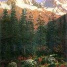 Canadian Rockies part of American cordillera landscape canvas art print by Albert Bierstadt