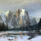 Cathedral Rocks Yosemite American West landscape canvas art print by Albert Bierstadt