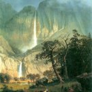Cho-Looke Yosemite Waterfall American West landscape canvas art print by Albert Bierstadt