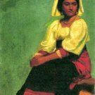 Costume Study of a Seated Woman canvas art print by Albert Bierstadt