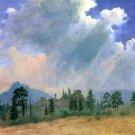 Fir Trees and Storm Clouds American West landscape canvas art print by Albert Bierstadt
