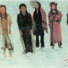 Five Indians West native American canvas art print by Albert Bierstadt
