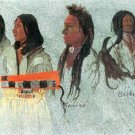 Four Indians West native American canvas art print by Albert Bierstadt