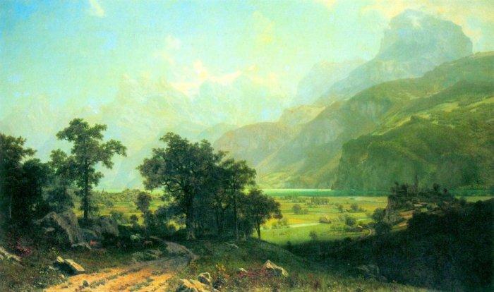 Lucerne Switzerland Luzern Europe landscape canvas art print by Albert Bierstadt