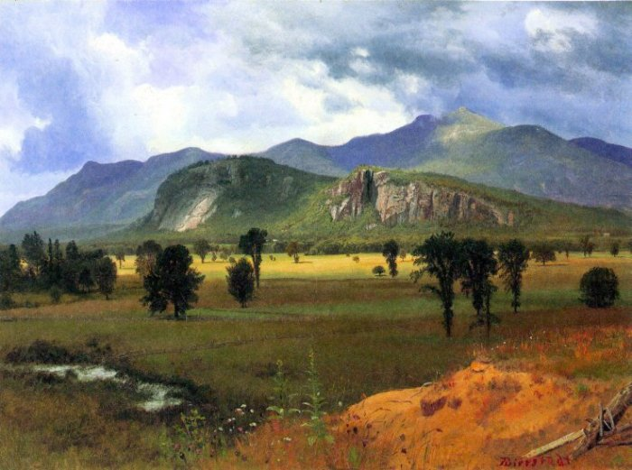Moat Mountain Intervale New Hampshire landscape canvas art print by Albert Bierstadt