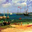 Nassau Port Commonwealth of the Bahamas seascape canvas art print by Bierstadt