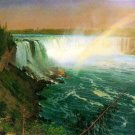 Niagara Falls water landscape canvas art print by Bierstadt