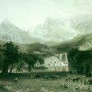 Rockies at Lander's Peak canvas art print by Bierstadt