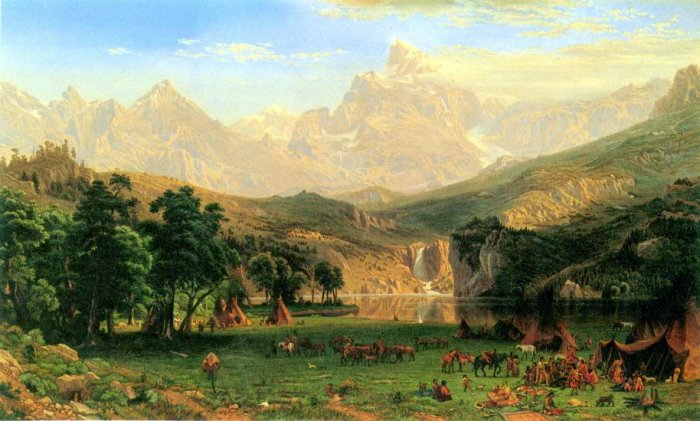 Rocky Montains at Lander's Peak canvas art print by Bierstadt