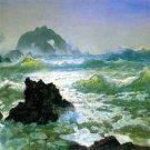 Seal Rock II seascape canvas art print by Bierstadt