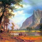 Yosemite Valley II California American West landscape canvas art print by Albert Bierstadt