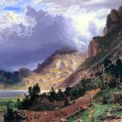 Storm in the Rockies Mt. Rosalie landscape canvas art print by Bierstadt