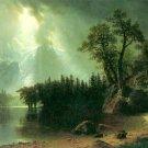 Storm Over the Sierra Nevada landscape canvas art print by Bierstadt