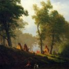 Wolf River, Kansas American landscape canvas art print by Albert Bierstadt