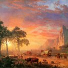 The Oregon Trail landscape canvas art print by Bierstadt