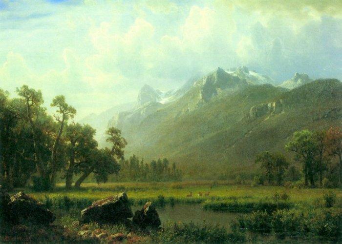 The Sierra near Lake Tahoe California landscape canvas art print by Bierstadt