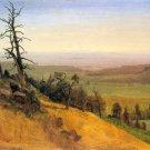 Wasatch Mountains Nebraska landscape canvas art print by Bierstadt