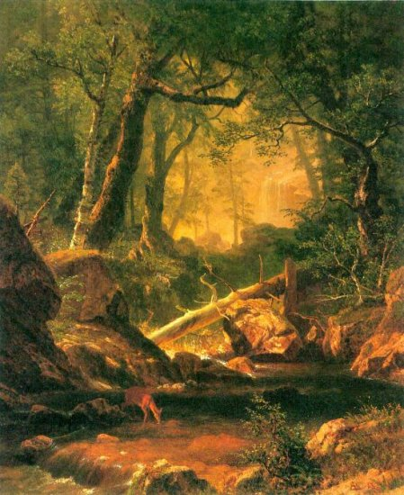 White Mountains New Hampshire II landscape canvas art print by Bierstadt