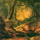 White Mountains New Hampshire II landscape canvas art print by Bierstadt