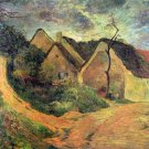 Ansteigender landscape canvas art print by Paul Gauguin