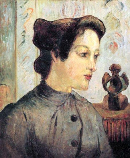 Women With Topknots woman canvas art print by Paul Gauguin