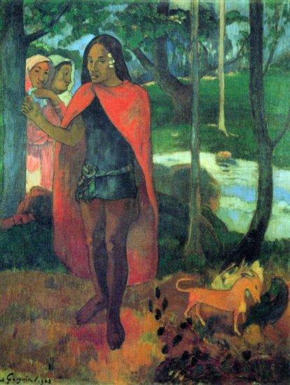Wizard of Hiva-Oa women canvas art print by Paul Gauguin