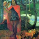 Wizard of Hiva-Oa women canvas art print by Paul Gauguin