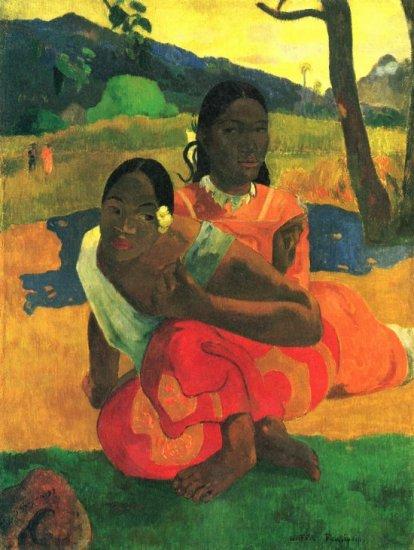 When You Hear women canvas art print by Paul Gauguin