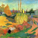 Von Arles landscape canvas art print by Paul Gauguin