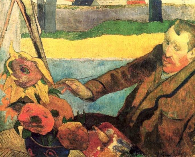 Van Gogh Painting Sunflowers canvas art print by Paul Gauguin