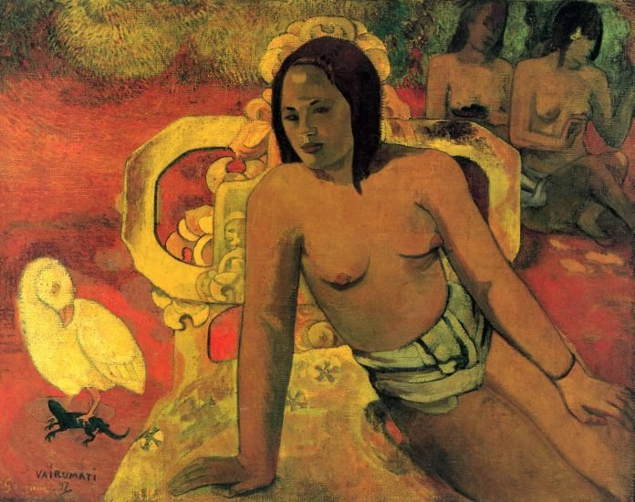 Vairumati women canvas art print by Paul Gauguin