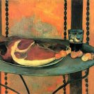 The Ham still life canvas art print by Paul Gauguin