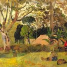 Te Raai Rah landscape garden people canvas art print by Paul Gauguin