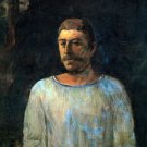 Galgotha portrait man canvas art print by Paul Gauguin