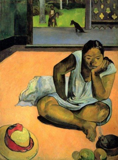 Te Faaturama woman canvas art print by Paul Gauguin