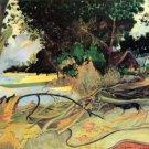 Te Burao landscape canvas art print by Paul Gauguin