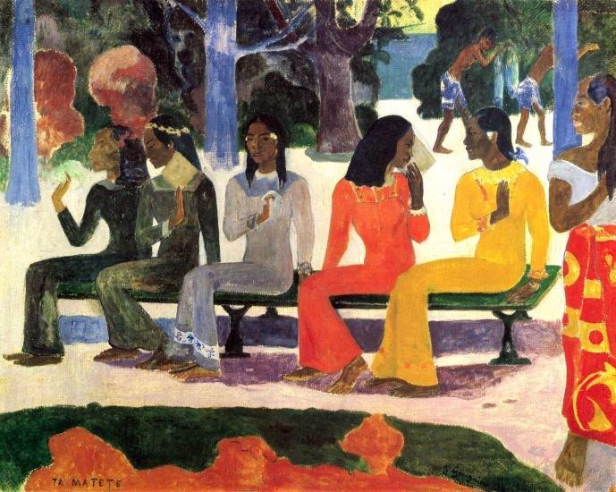 Ta Matete women people canvas art print by Paul Gauguin