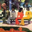 Ta Matete women people canvas art print by Paul Gauguin