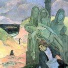 Green Christ religious Jesus Christian canvas art print Paul Gauguin