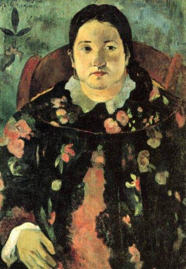 Suzanne Bumbridge woman portrait canvas art print by Paul Gauguin
