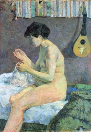 Study of a woman canvas art print by Paul Gauguin