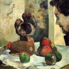 Still Life with Profile of Charles Lavall canvas art print by Gauguin