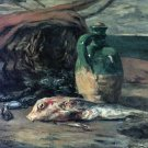 Still Life with Fish canvas art print by Paul Gauguin